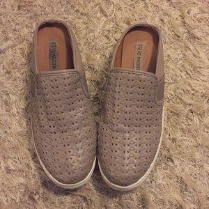 Steve Madden Taupe Slip On Sneakers